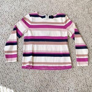 4/$25 J. Crew Pink Colorblock Stripe Cotton Top